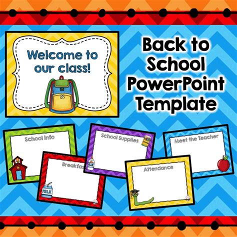 meet the teacher template editable parent night open