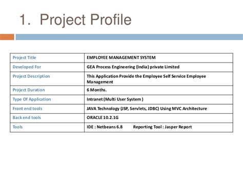 management profile template employee management system