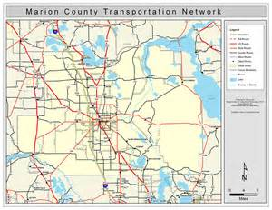 map of marion county florida marion county road network color 2009