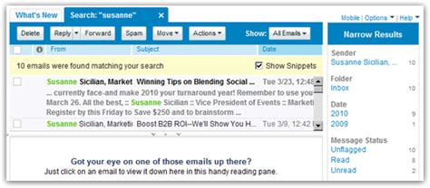 Yahoo Email Search Yahoo Mail Search Find Email Messages In Any Folder