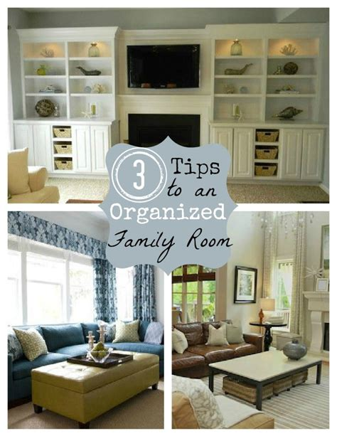 organized living room creative space organizing 3 creative storage solutions for the family room home