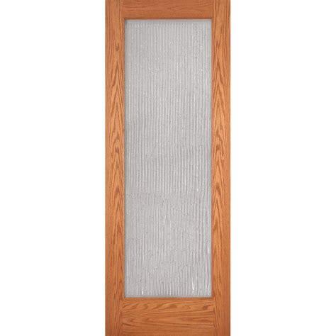 Bamboo Interior Door Feather River Doors 24 In X 80 In 1 Lite Unfinished Oak Bamboo Woodgrain Interior Door