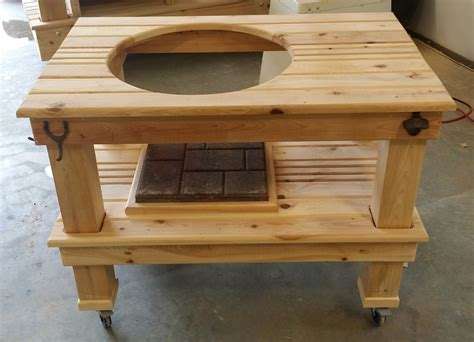 green egg tables compact big green egg table wood by