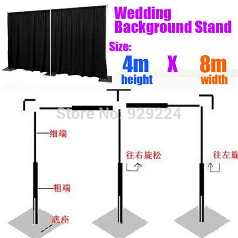 Wedding Backdrop And Stand by Backdrop Stand For Wedding 4m X 8m Stainless Steel Pipe