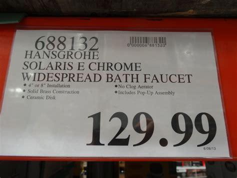 hansgrohe bathroom faucet costco hansgrohe solaris e chrome bath faucet