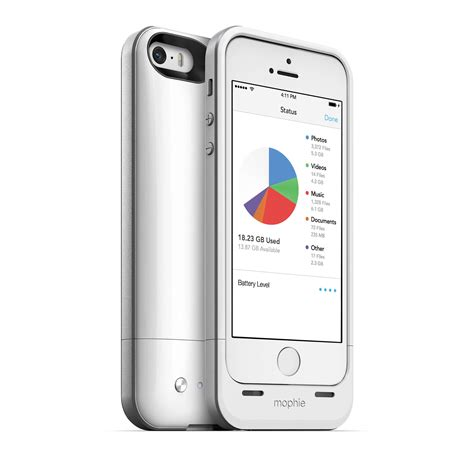 mophie gb space pack  iphone  white  bh photo