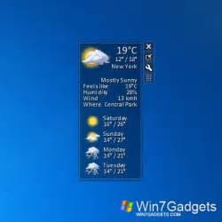 Small Desktop Weather Weather Windows 7 Desktop Gadget
