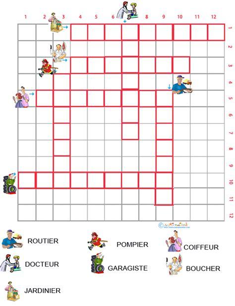 Imprimer Les Mots Crois 233 S 224 Images Sur Les M 233 Tiers Grille 1