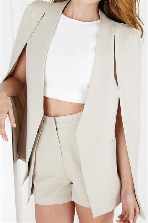 Cape Blazer Premium lavish collarless cape blazer from illinois by the look shoptiques