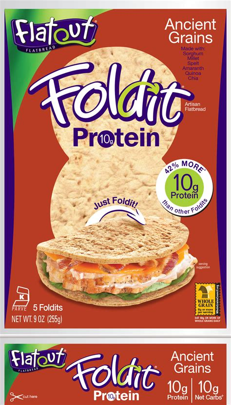 Flat Out foldit 174 artisan flatbread wraps flatout