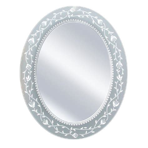 Vanities Home Depot Deco Mirror 23 In X 29 In Fushcia Oval Mirror 3014 The