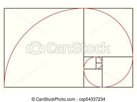 Golden Ratio Template Proportion Symbol Graphic Design Element Golden Section Spiral Vector Golden Ratio Design Template