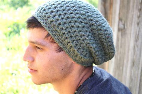 mens slouchy beanie knitting pattern crochet mens slouchy beanie hat pattern crochet and knit