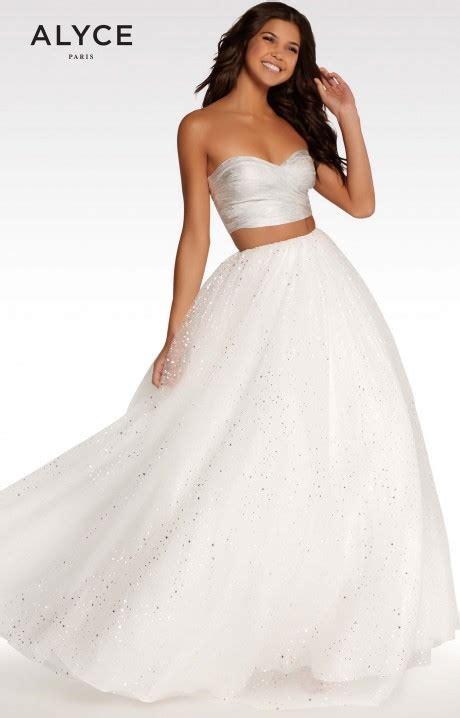 alyce paris kp  piece tulle skirt prom dress
