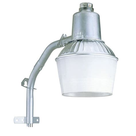 Lithonia Outdoor Lighting Lithonia Lighting Wall Or Post Mount 1 Light Outdoor Metallic Grey Metal Halide Area Security