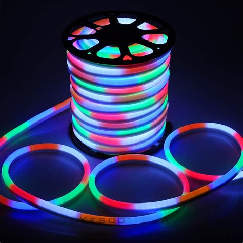 led neon flex light 150 ft led neon rope light flex sign decorative home indoor outdoor 110v ebay