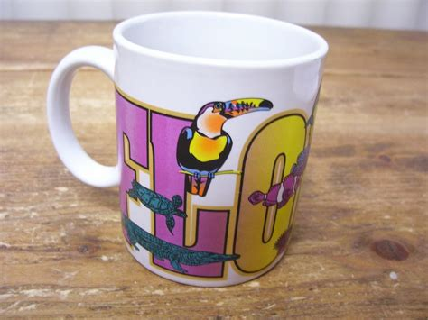animal coffee mugs florida zoo animal coffee mug cup toucan alligator
