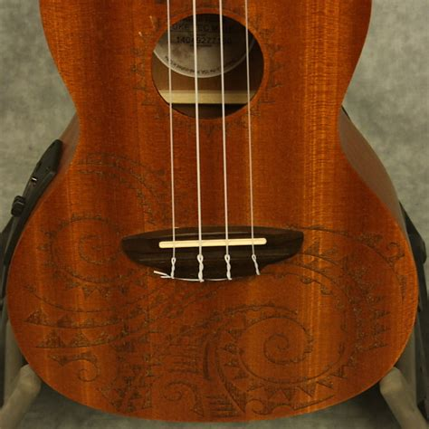 luna tattoo concert mahogany acoustic electric ukulele