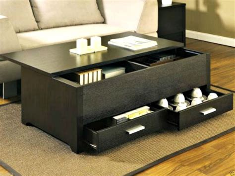 Storage Table For Living Room - modern coffee table w storage living room tables wood