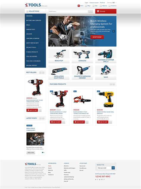 shopify themes uk tools equipment responsive shopify theme 54600 by zemez