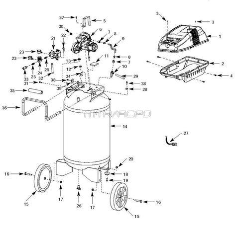 campbell hausfeld wlaj air compressor parts