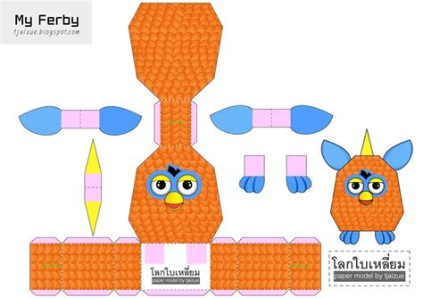 Papercraft Blogs - furby paper papercraft 3d paper toys