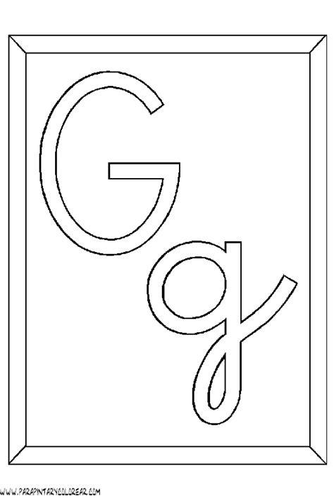 letras gruesas para carteles letras para colorear g