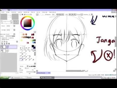 cara membuat paint tool sai version tutorial cara membuat wajah anime dengan sai easy paint