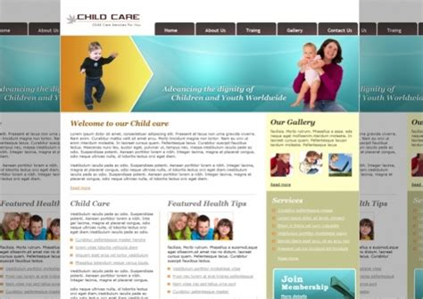 25 Free Website Templates Psd Ai Illustrator Download Daycare Website Templates Free