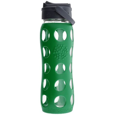 Glass Water Bottle With lifefactory glass water bottle with straw cap and
