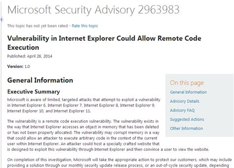 microsoft microsoft security advisory update for another security threat endangers users information online