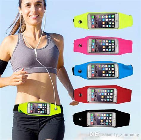 Pocket Smart Belt Running Sport Elastic Belt Tas Lari Sepeda Digital waterproof running belt for iphone android smart phone sports waist bag reflective pouch