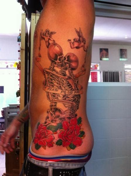 tattoo prices spain flower side skeleton tattoo by ibiza ink