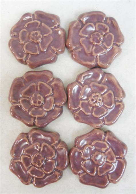 Handmade Decorative Tiles - handmade decorative ceramic tiles rosette pattern stoneware