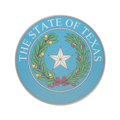 Beverage Coasters The State Of Texas Coat Of Arms Beverage Coasters Zazzle
