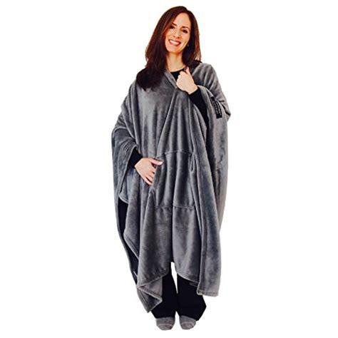 most comfortable blanket ever original throwbee blanket poncho gray grey yay no