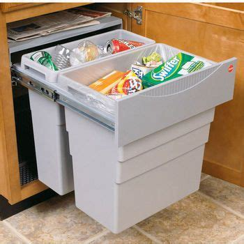 kitchen cabinet bin hafele easy cargo 50inch double built in pull out waste