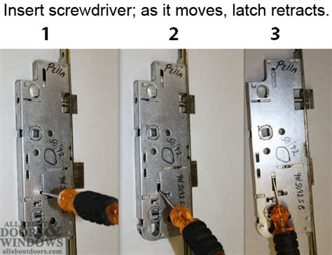 pella patio door locks how to open a pella 3 point lock door stuck closed in