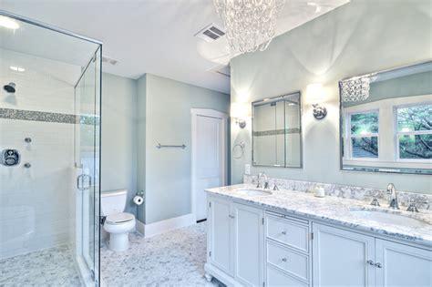 spa like bathroom paint colors spa like master bath with glass chandelier and pedestal