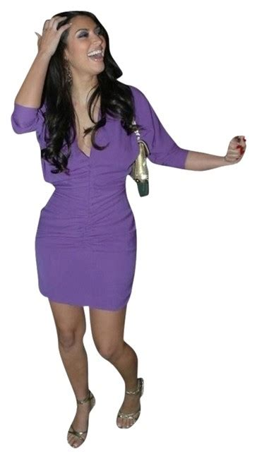 Gita Purple purple ghita mini out dress size 4 s