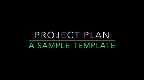 integrated project plan template integrated project plan template