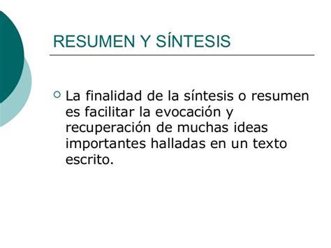Resumen Y Sintesis by Tipos De Lectua Para Elaborar Res 250 Menes Y S 237 Ntesis