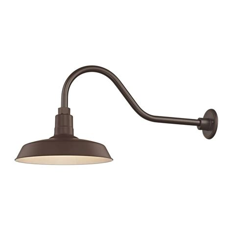 Gooseneck Outdoor Barn Light Bronze Outdoor Barn Wall Light With Gooseneck Arm And 14 Quot Shade Bl Armq Bz Bl Sh14 Bz