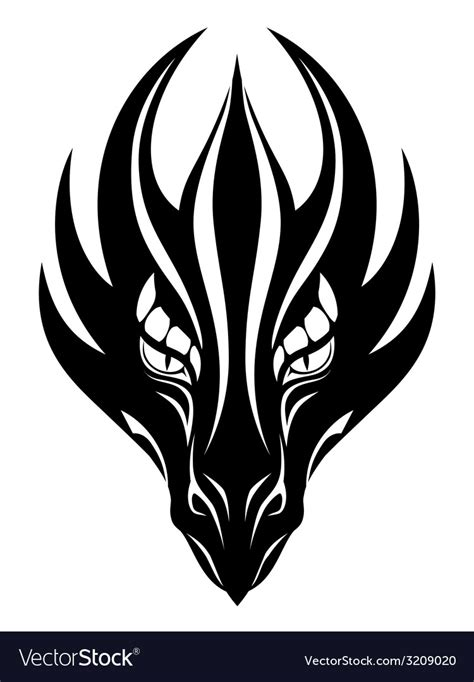 dragon face symbol royalty free vector image vectorstock