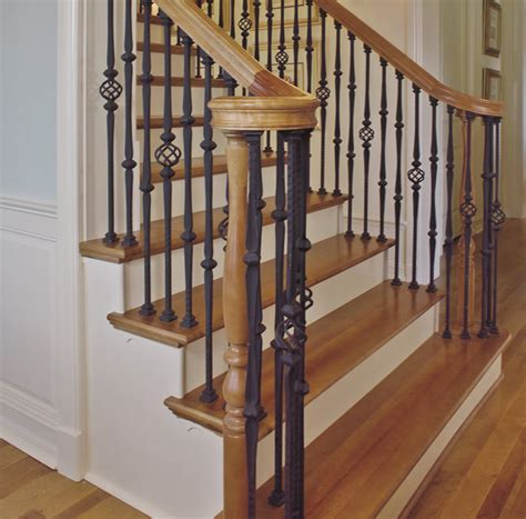 replace banister and spindles replacing wooden balusters wrought iron interesting ideas for home