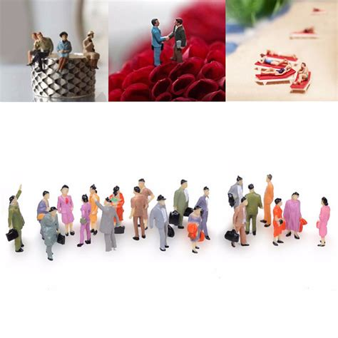 Toys Planning Painted Figures 100pcs mini painted model figures 1 150 standing sitting model toys ebay