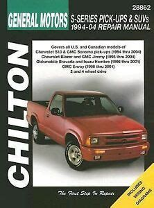 how to download repair manuals 2001 gmc jimmy spare parts catalogs 1994 2004 gmc chevy s10 sonoma blazer jimmy repair manual 2003 2002 2001 6008 1563926008 ebay