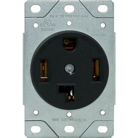 rpp 30a 4 wire dryer receptacle flush mount
