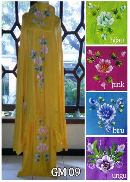 Mukena Bali Standar Tulip mukena lukis warna gm09