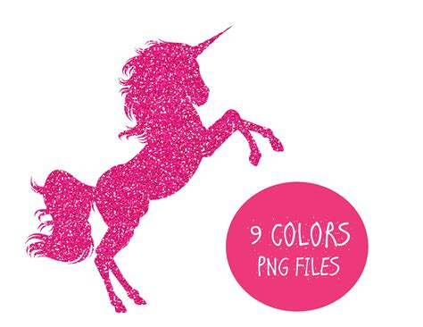 Glitter Unicorn Clipart